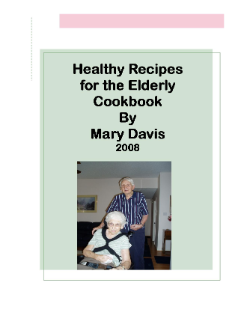 Healthy Recipes for the Elderly – Cookbook