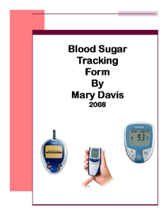 Blood Sugar Tracking Form