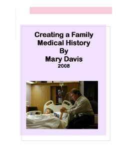 Creating a Family Medical History