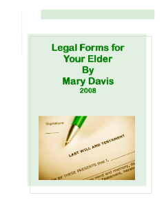 Legal Forms For Your Elder
