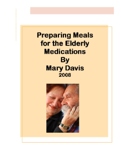 Preparing Meals for the Elderly
