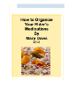 How to Organize Your Elders Medications